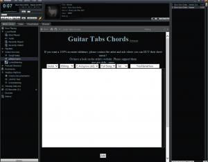 add new tab guitar tabs winamp